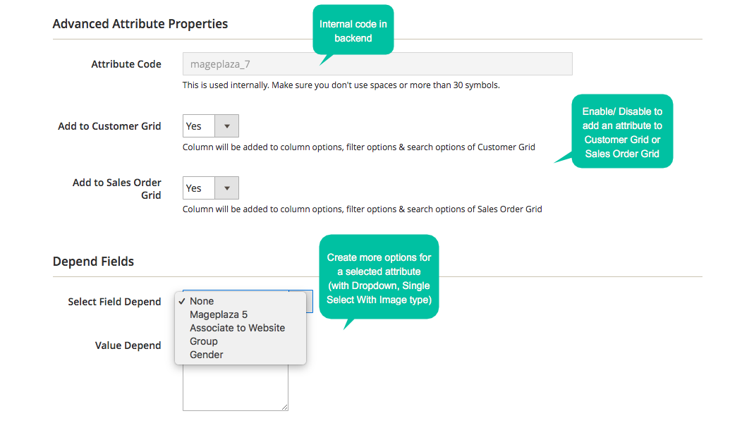 How to configure customer attribute