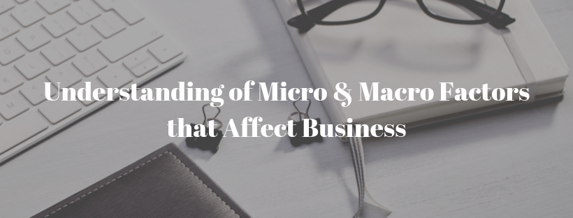 Understanding Of Micro And Macro Factors That Affect Your Business
