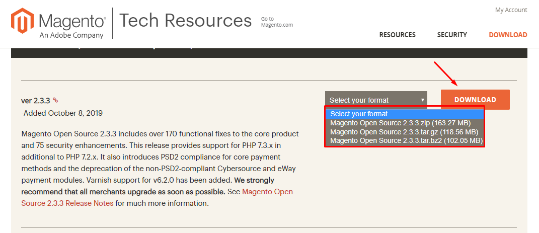 download and install Magento 2.3.3