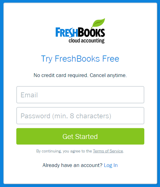 Instructions For Registering FreshBooks image 1