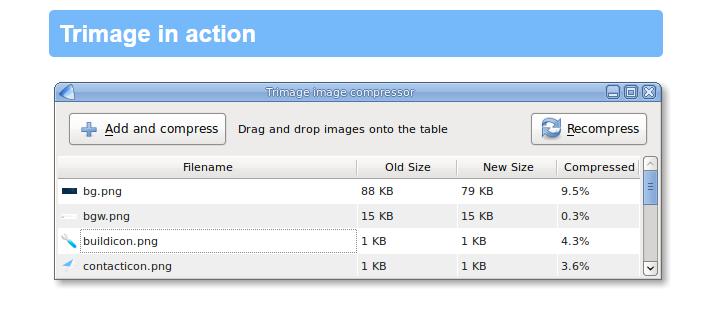 Trimage Image Optimizer