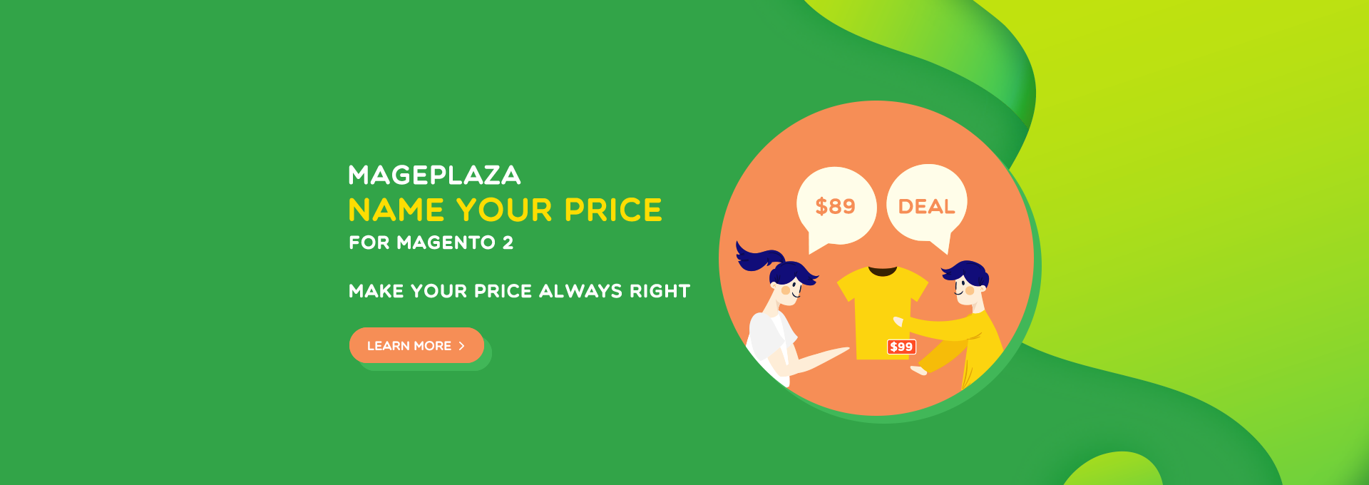 How to bargain Magento 2 products by Name Your Price extension