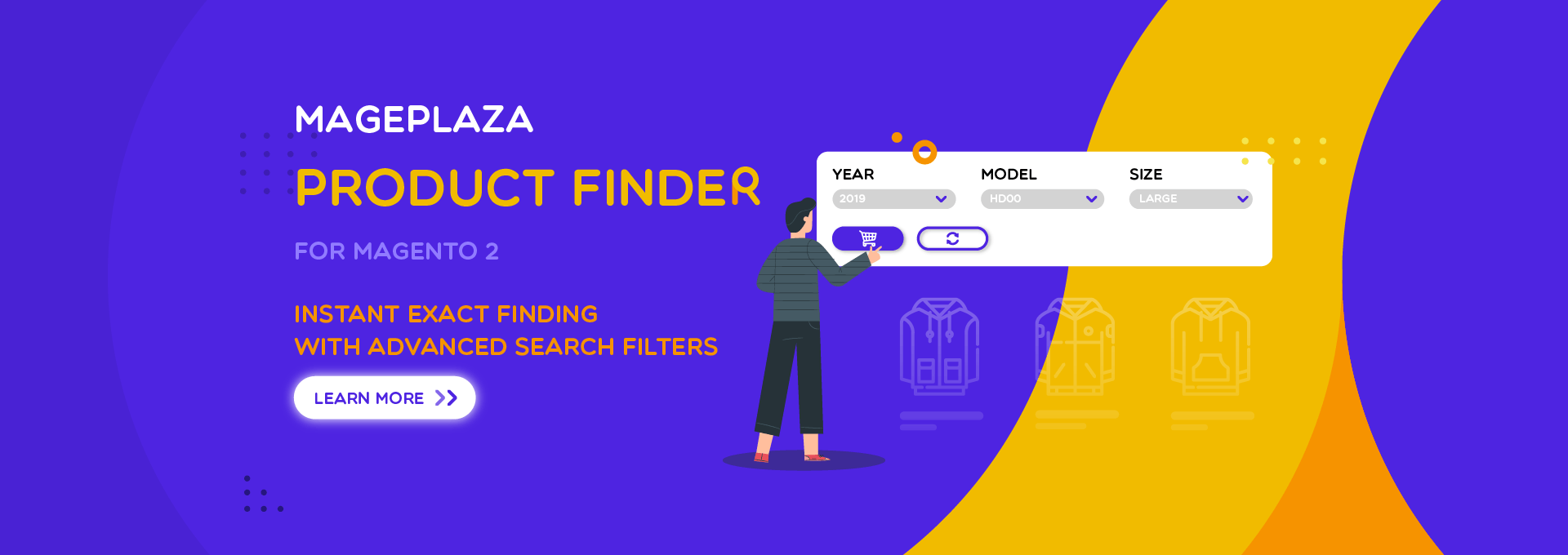 How to equip advanced search options for Magento 2 by Product Finder