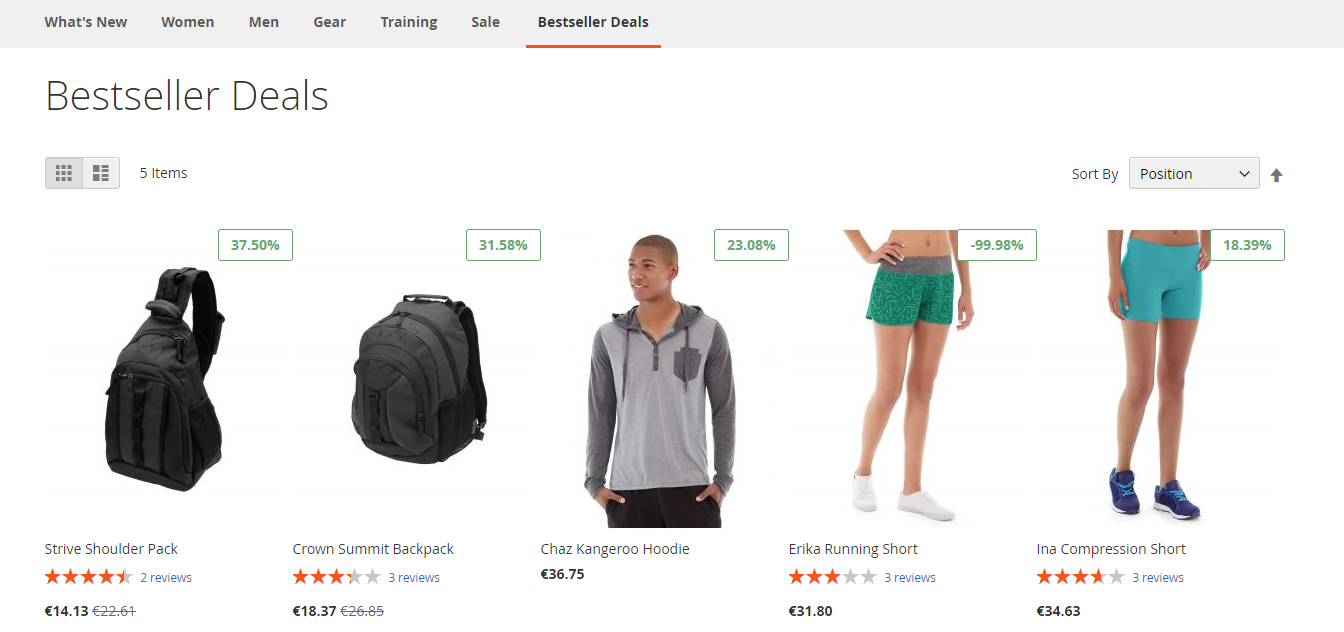 how top sellers and hot deals