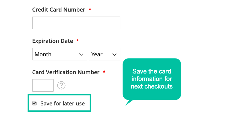 Payment Card Information Is Stored