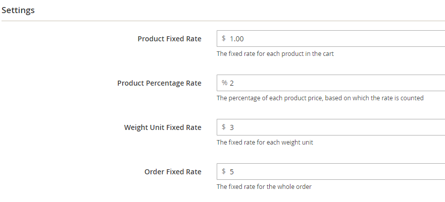 Magento 2 Multiple table rate calculation types