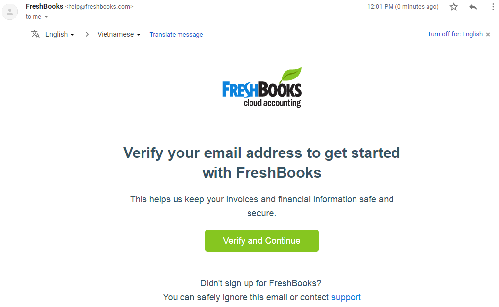 Instructions For Registering FreshBooks image 2