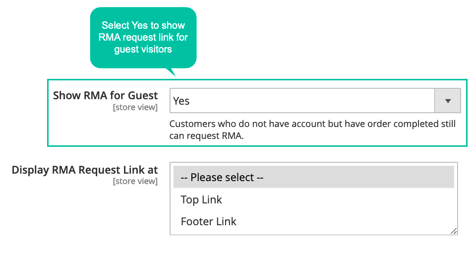 Allows Guests To Send RMA Requests