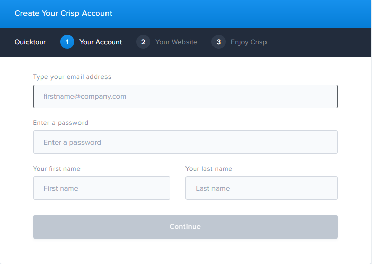 Instructions For Registering And Using Crisp Chat image 1
