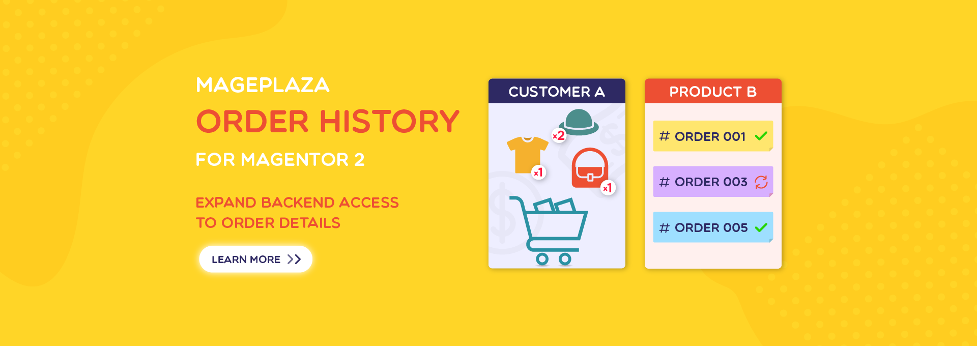 How to view informative orders at Magento 2 backend by Order History