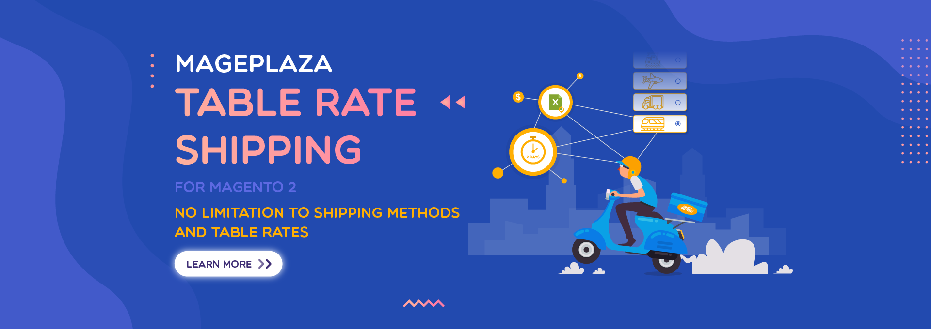 How to offer more flexible shipping methods by Table Rate Shipping module