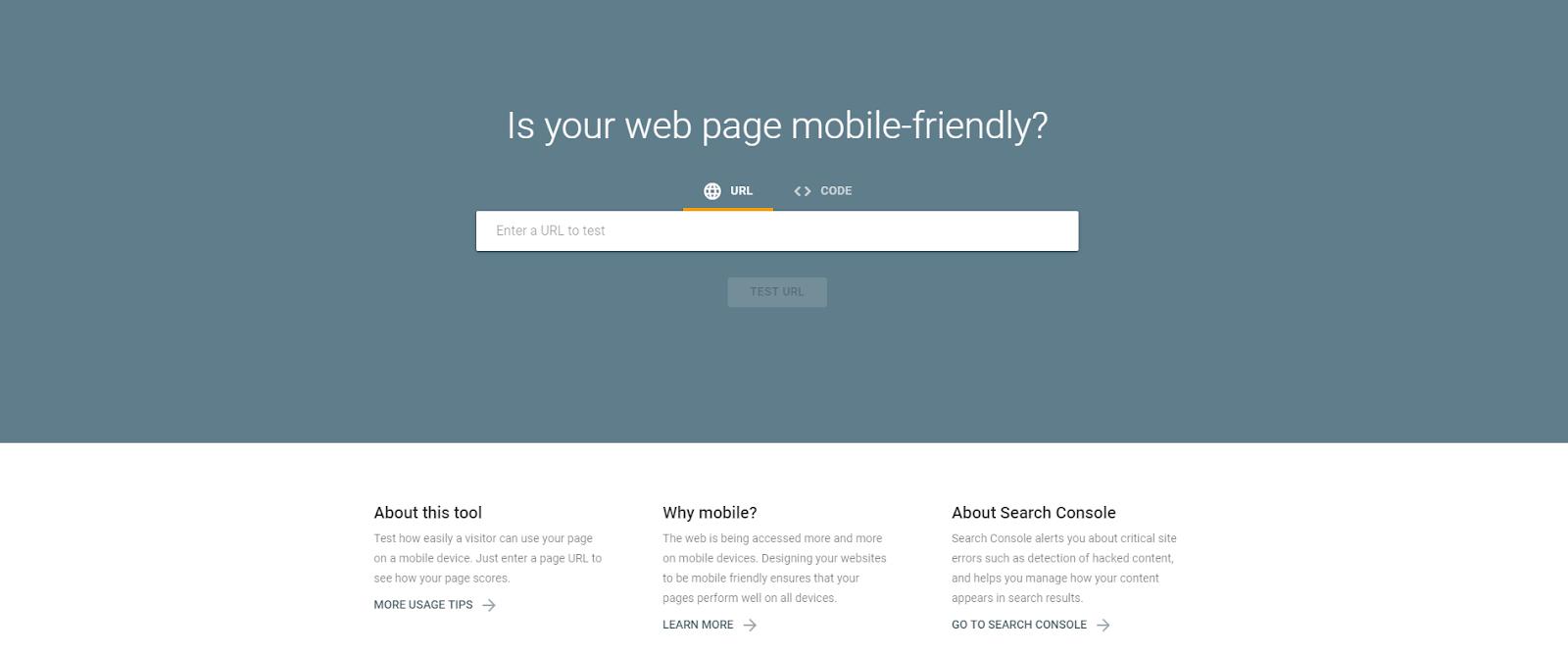 advantage of Google mobile-friendly tool
