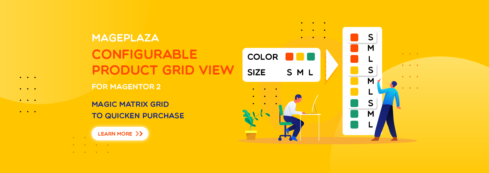 How to show Magento 2 Configurable Products via table grid