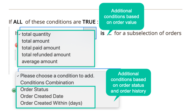 et Discount Based On Value, Status, History Of Order
