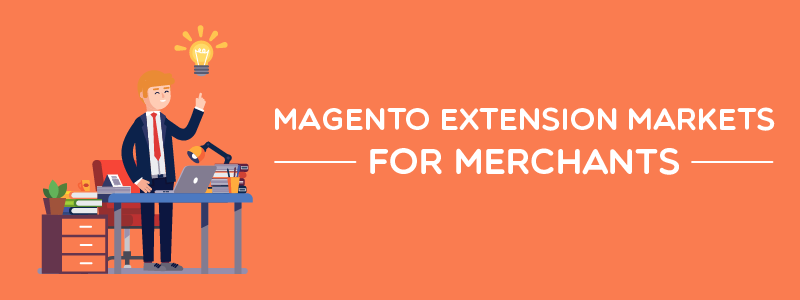 Where can a merchant find Magento extensions?