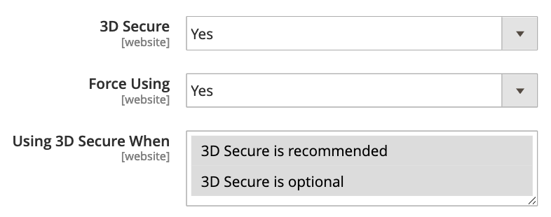 Support 3D Secure