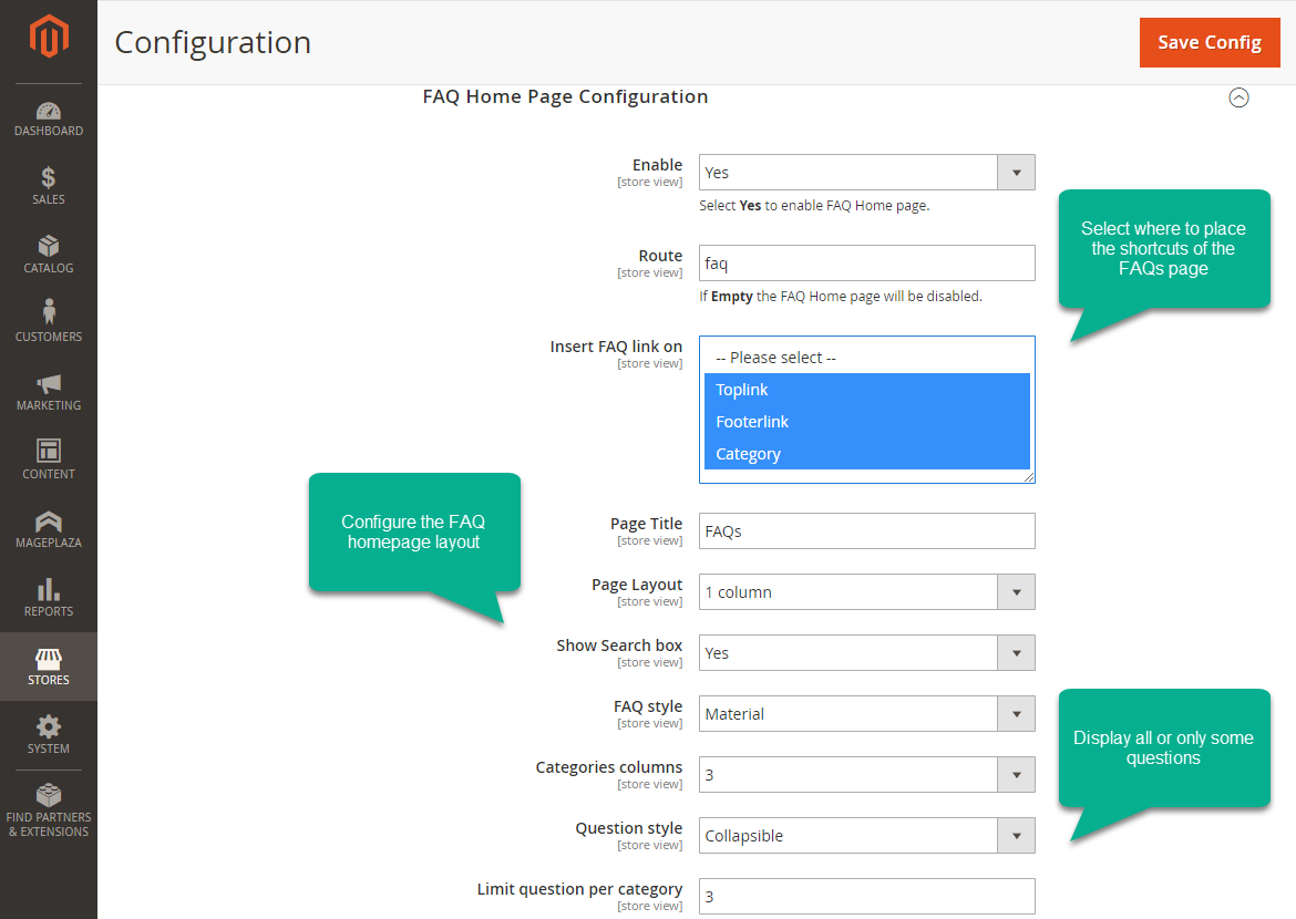 How to customize FAQ page design