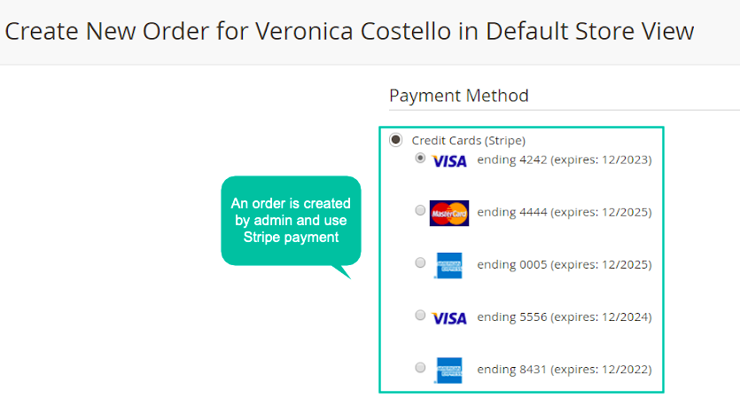 Payment Can Be Created From Admin Side