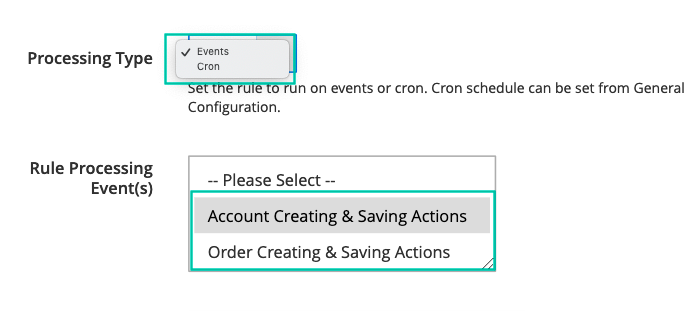 Event or Cron Base