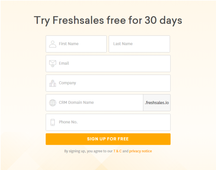 Instructions For Registering And Using Freshsales 1