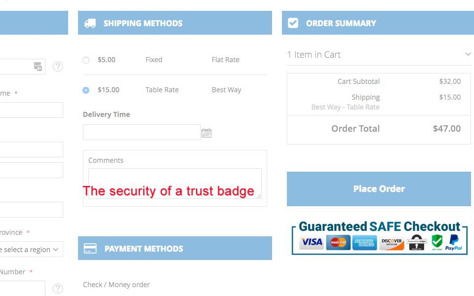 Magento 2 Trust Badge In One Step Checkout