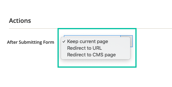 Redirect to a specific page