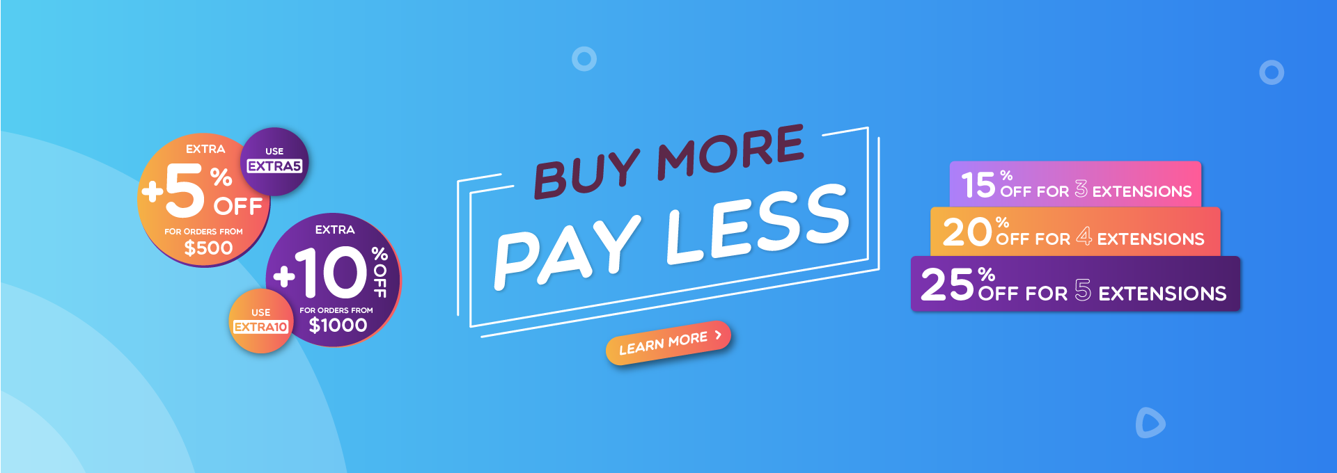 Buy more pay less