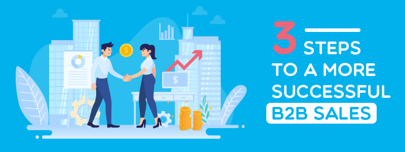 What is B2B sales - 3 steps to a more successful B2B sales