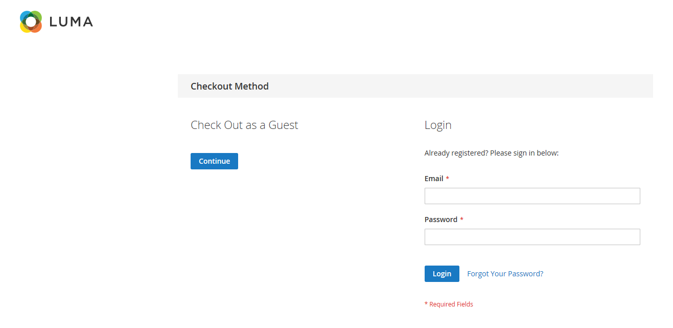 How does guest checkout look on the frontend